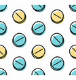 seamless pattern with drugs pills vector image