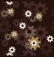 seamless pattern with gears on dark background vector image vector image