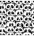 seamless pattern with panda vector image
