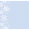 snowflakes border vector image vector image