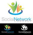 Social community health icon logo vector image vector image
