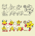 Superstar cartoon icons vector image vector image