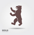 symbol of berlin germany bear vector image vector image