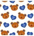 Teddy bear seamless pattern vector image vector image