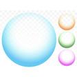 transparent circles bubbles vector image
