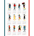 twelve young women or girls wearing stylish vector image vector image