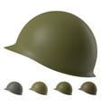 us m1 military helmet vector image