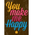 Valentines Day text typography vector image vector image