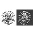 vintage monochrome baseball club emblem vector image vector image