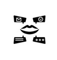 viral marketing campaign black icon sign vector image vector image