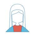 virgin mary cartoon vector image vector image