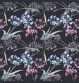 watercolor allium seamless pattern