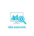 web analytics seo analysis icon vector image vector image