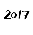 2017 calligraphic greeting sign vector image