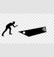 sticker to car silhouette kegelman bowler a game vector image