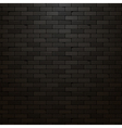 Black brick wall background Dark brick texture vector image
