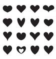 Heart symbol shapes vector image