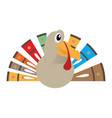 isolated comic turkey vector image