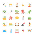 park and garden flat icons vector image