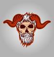 skull horned vector image