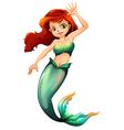 A pretty mermaid vector image vector image
