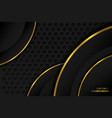 abstract background black gold vector image