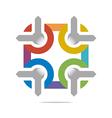 Abstract Logo Letter Circle Arrow Design Icon vector image