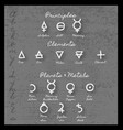 alchemy symbols and meaning vector image vector image