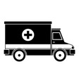 ambulance icon simple style vector image vector image