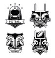 american football emblems vector image