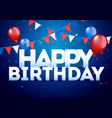 background for birthday wishes with banners vector image