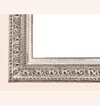 background with a corner a wooden vintage frame vector image vector image