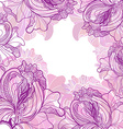 background with ornament of the graphic flowers vector image