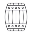 barrel thin line icon container and storage vector image vector image