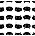 black cat seamless pattern cute cartoon character vector image vector image