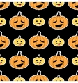 Black Halloween pumpkin seamless pattern vector image