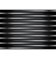 Black metallic striped design vector image vector image