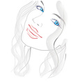 blue eyed girl vector image vector image