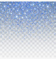 blue glitter sparkle on a transparent background vector image vector image