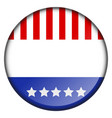 button with flag vector image vector image