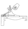 cam turning attachment for lathe vintage vector image vector image