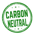 carbon neutral sign or stamp vector image vector image