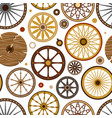 carriage vintage transport old wheels and vector image
