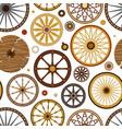 carriage vintage transport old wheels vector image vector image