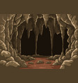 cartoon the cave with stalactites vector image