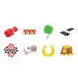 casino and equipment icons in set collection for vector image vector image