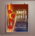 christmas holidays party flyer design template vector image vector image