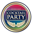 Cocktail Party Exotic Label vector image vector image