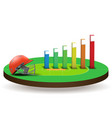 Concept of statistics about the cricket vector image vector image