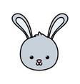 cute rabbit head cartoon icon vector image vector image